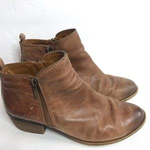 Lucky Brand Toffee Basel Ankle Booties
